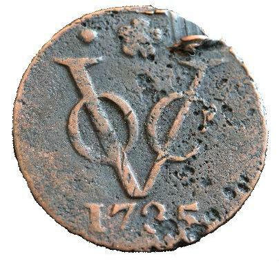 VOC-duit uit 1735