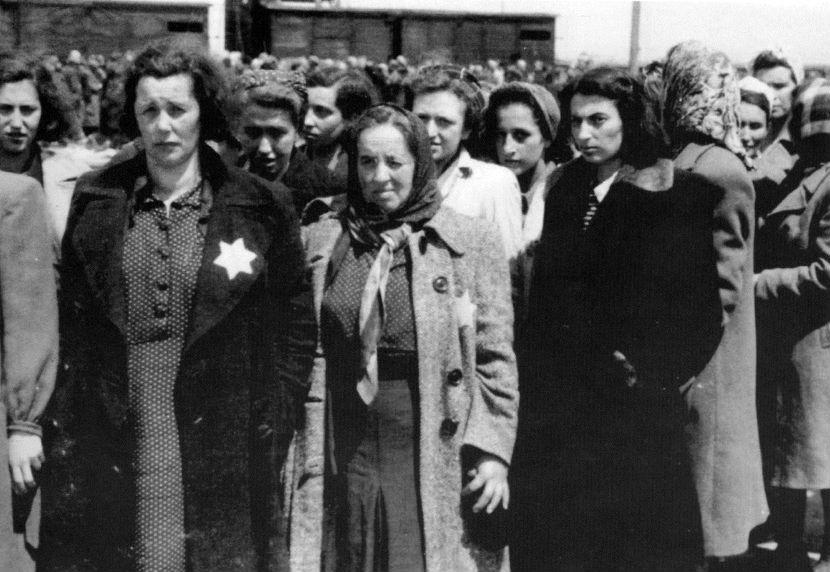 Vrouwen geselecteerd voor dwangarbeid (Auschwitz Album, mei 1944)