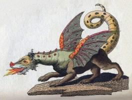 Vuurspuwende draak (19e eeuw)