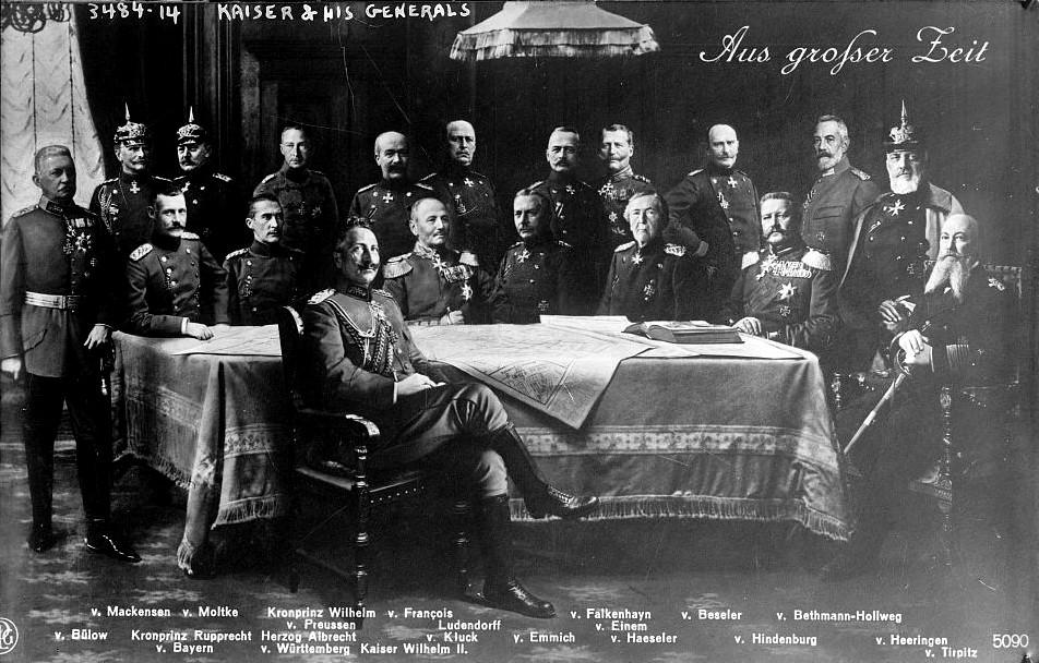 Wilhelm II met zijn generaals
