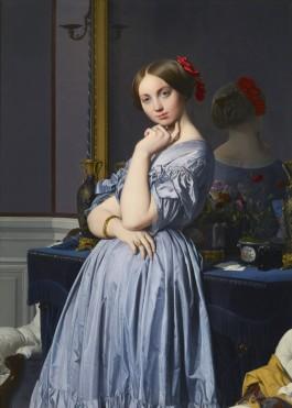 Jean-Auguste-Dominique Ingres (1780-1867), Portret van de Comtesse d'Haussonville, 1845
