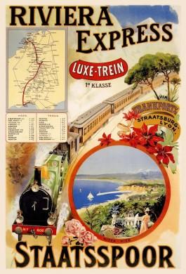 Affiche Riviera Express, Staatsspoor, 1901