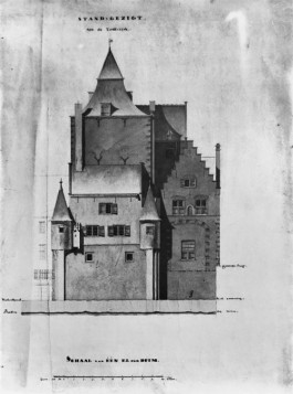 De gevangentoren te Breda waaruit Jean le Boul is ontsnapt... Bron: Breda Beeldcollectie, D0118