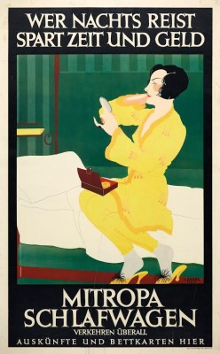 Affiche Mitropa Schlafwagen, Lucian Zabel 1928