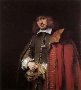 Portret van Jan Six, Rembrandt Harmensz. van Rijn, ca. 1654. Collectie Six, Amsterdam