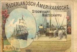Affiche van de Nederlandsch-Amerikaansche Stoomvaart Maatschappij (hollandamericablog.com)