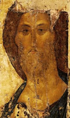 Christusicoon uit het klooster in Zvenigorod en toegeschreven aan Andrej Roebljov - cc