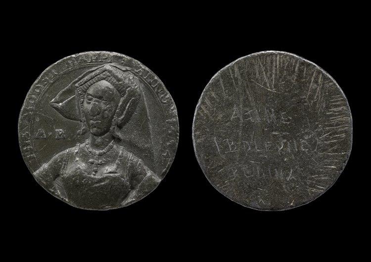 De medaille met daarop de buste van Anne Boleyn (British Museum)