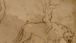 De tekening van de leerling van Michelangelo