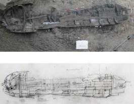 Foto en tekening van het wrak (Gemeente Zutphen)