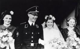 Heerema in uniform van de SS op de dag van zijn huwelijk, december 1942 (cc - Spaarnestad)