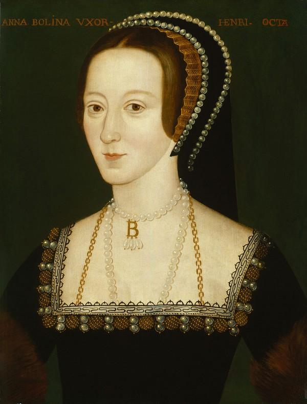 Het portret dat meestal gebruikt wordt bij verhalen over Anne Boleyn (National Portrait Gallery)