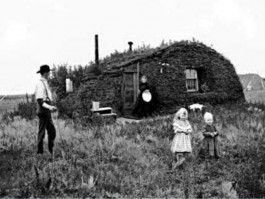 Huis van een emigrant in North-Dakota (1898)