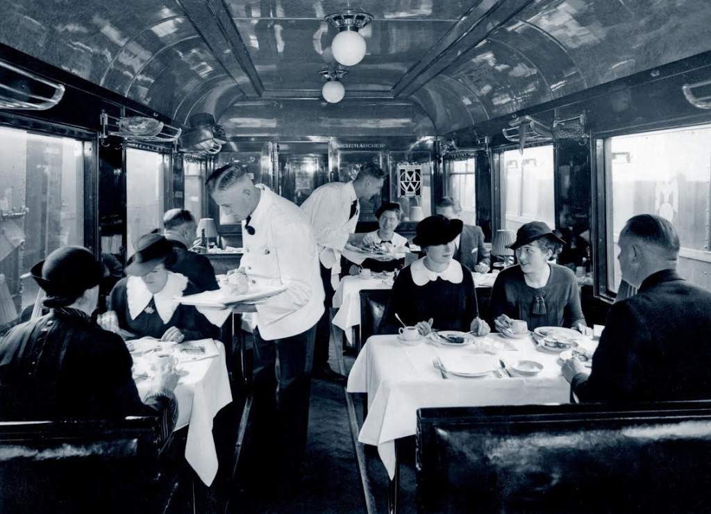 Interieur Mitropa-restauratierijtuig, ca. 1935