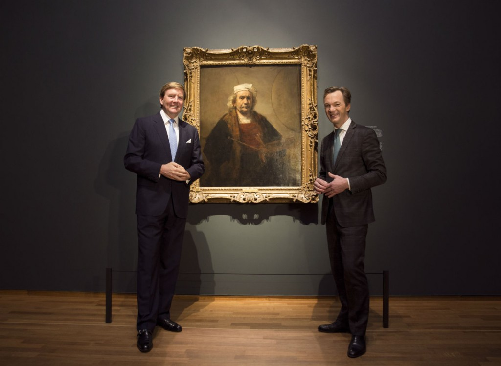 Koning Willem-Alexander en museumdirecteur Wim Pijbes (Foto Erik Smits - Rijksmuseum)