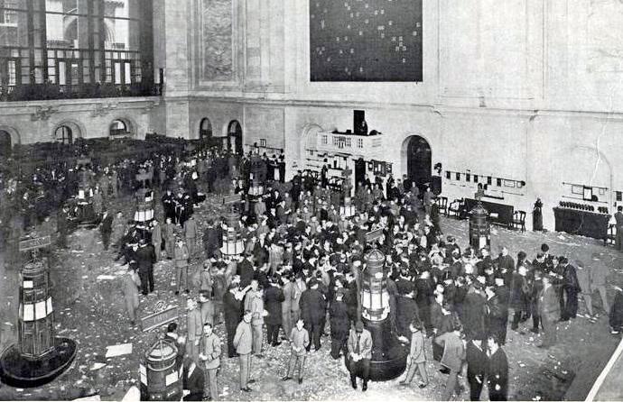 New York Stock Exchange in 1908 - cc
