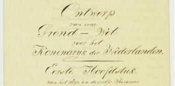 Naar één Koninkrijk van Nederland en België in 1815