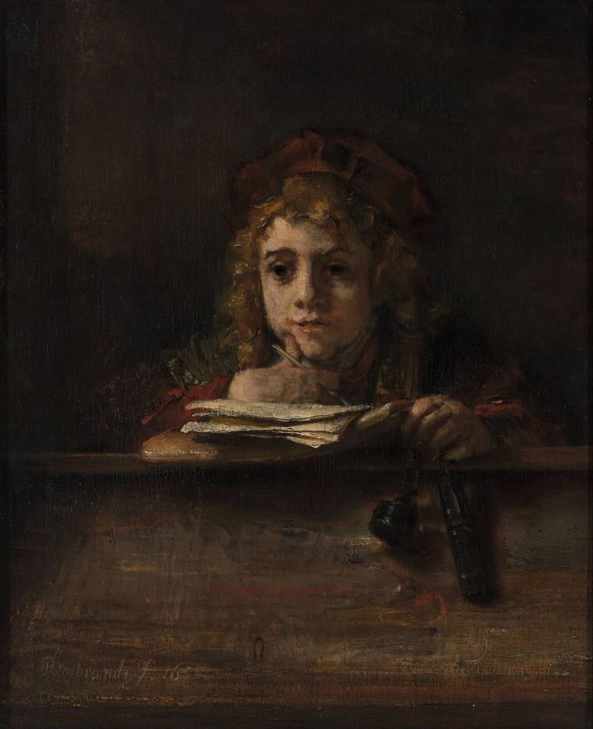 Titus aan de lezenaar, Rembrandt Harmensz. van Rijn, 1655. (Museum Boijmans van Beuningen, Rotterdam)