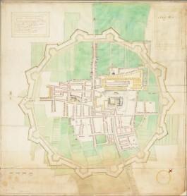 Vestingkaart van Den Haag uit 1603, door J. Groll. (Collecitie HGA).