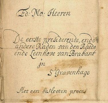 ...één van de stukken waarover de drossaard De Groot zich boog in 1685...