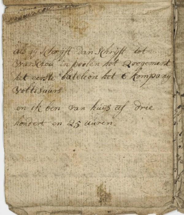 Deze brief werd in Warschau geschreven, maar liefst 325 uur verwijderd van Sint Hubert!