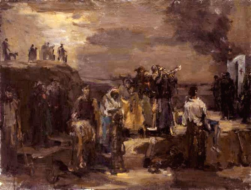 Bloedbad van Babi Jar - Schilderij van Felix Lembersky