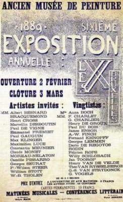 Les XX. Affiche van de tentoonstelling van 1889