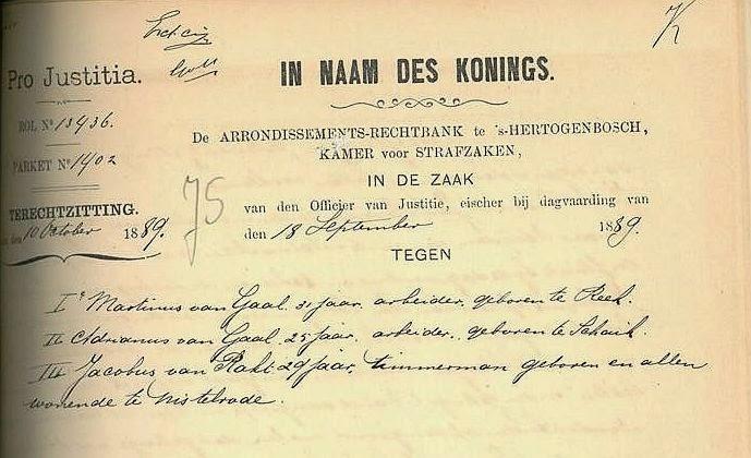 ...Martinus en Adrianus van Gaal...
