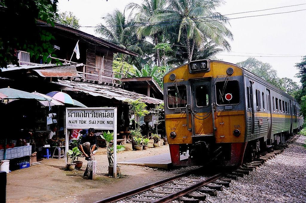 Nam Tok Sai Yok Noi, het huidige eindpunt van de Birma-spoorlijn - cc
