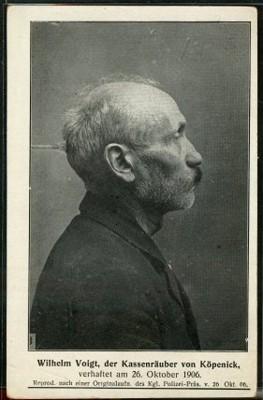 Politiefoto van Wilhem Voigt, 26 oktober 1906