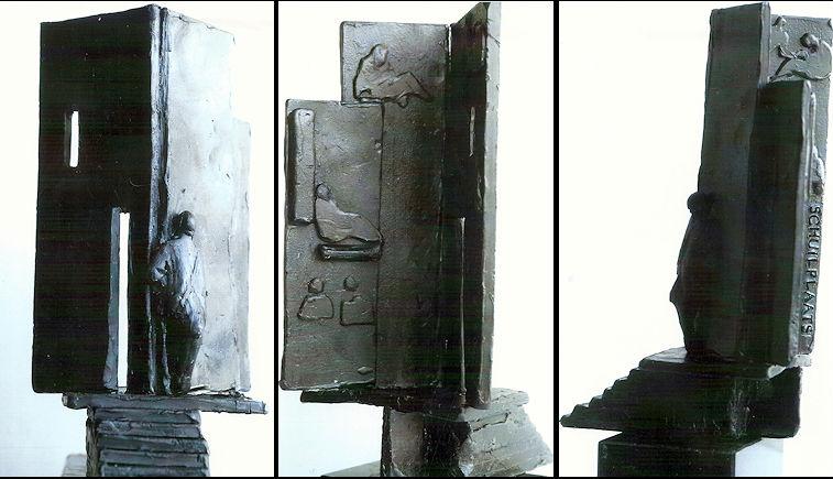 Proefmodel van het monument (schuilplaatsverleners.nl)