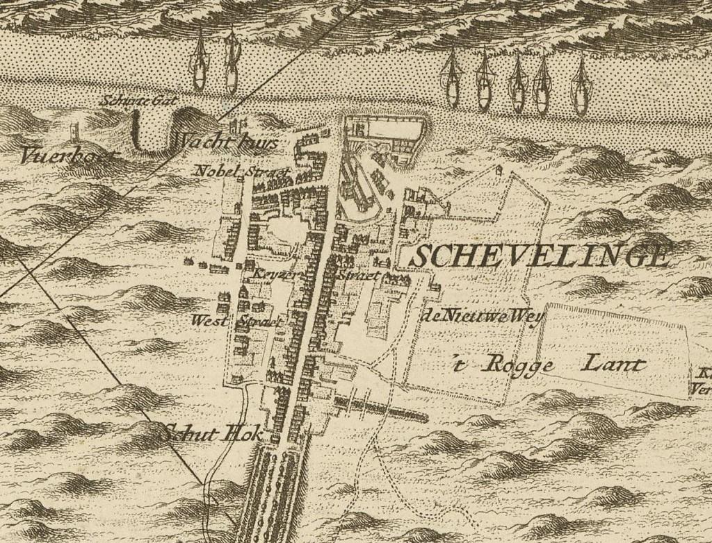 Scheveningseweg in 1712 (Nicolaas en Joacobus Kruchius)
