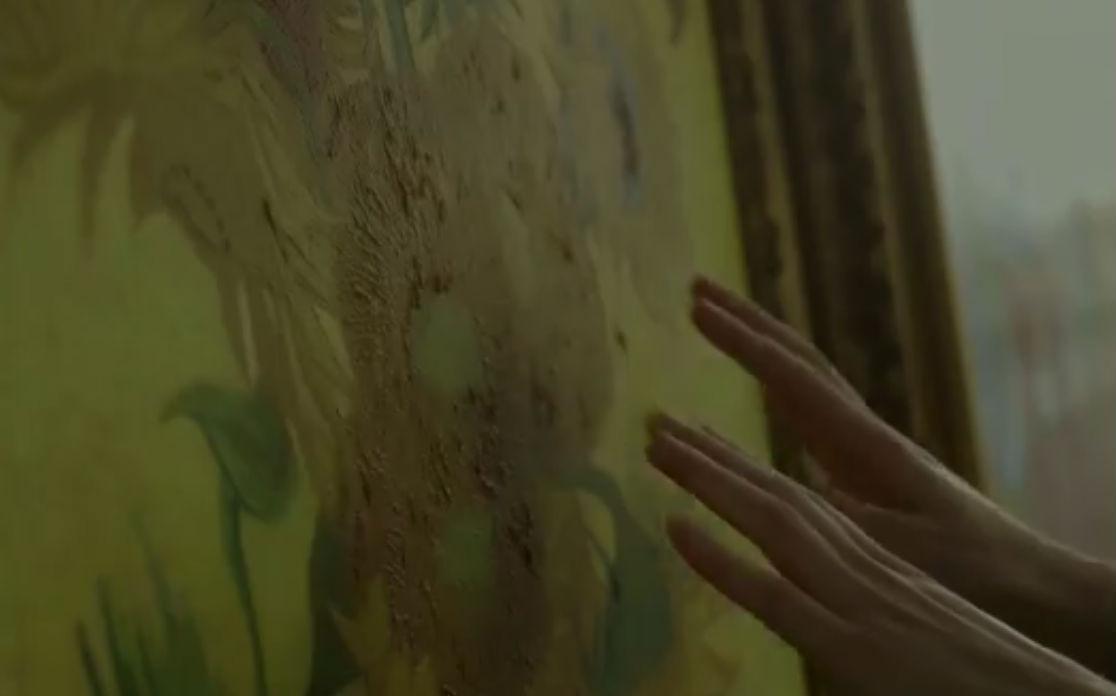 Voelen aan de werken van Vincent van Gogh (Still YouTube)