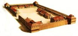 Voorbeeld van een castellum, dit was vaak het legerkamp waar de legioenen verbleven (home.planet.nl/~vink0077/rominned.html)