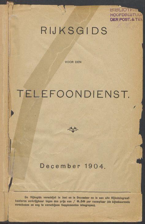 Een van de gedigitaliseerde telefoonboeken (KB)