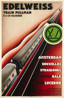 Affiche Edelweiss door Hippolyte Petitjean, 1928 (Spoorwegmuseum)