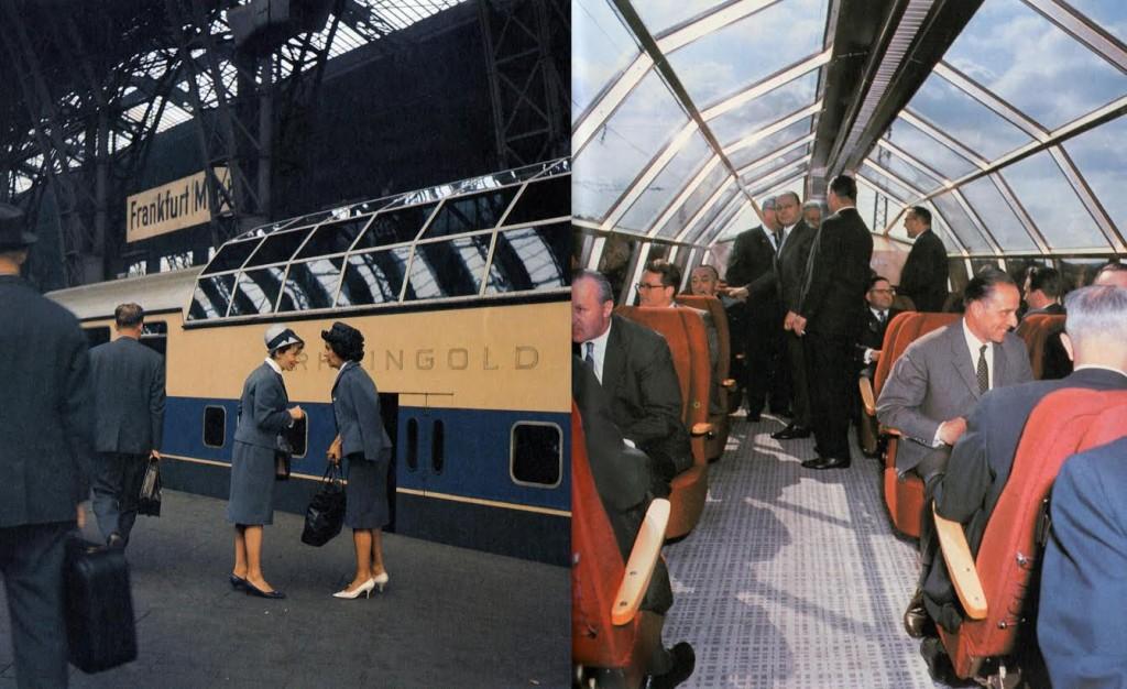 Rheingold-panoramarijtuig, ca. 1962 (Reinhold Palm/Deutsche Bundesbahn)