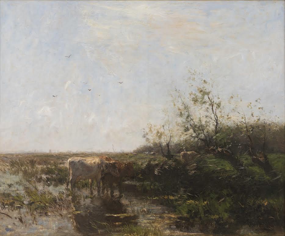 Willem Maris – Zomer, 1897, Olieverf op doek 136,5 x 164,5 cm, Dordrechts Museum, bruikleen RCE (Verzameling Van Bilderbeek)