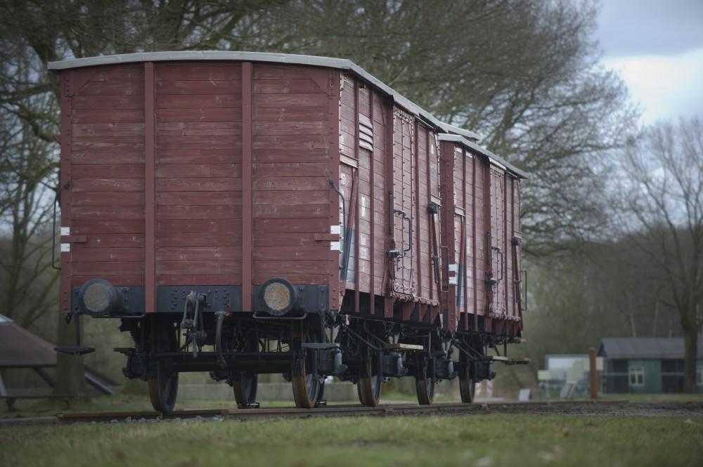 Een van de gerestaureerde wagons (Foto : Sake Elzinga / Herinneringscentrum Kamp Westerbork)