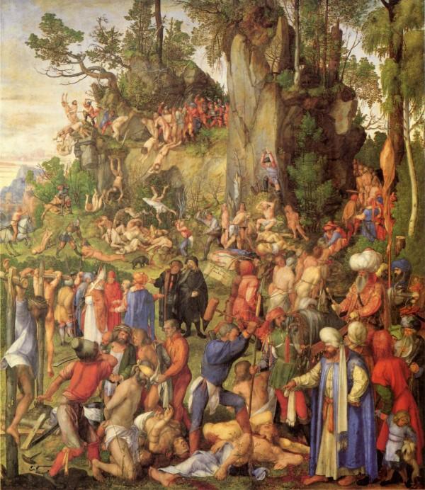 Martelaarschap van de tienduizend christenen (Dürer, 1508)
