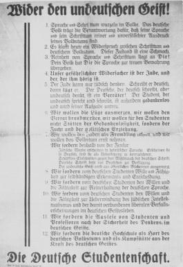 """Vlugschrift """"Wider den undeutschen Geist"""""""