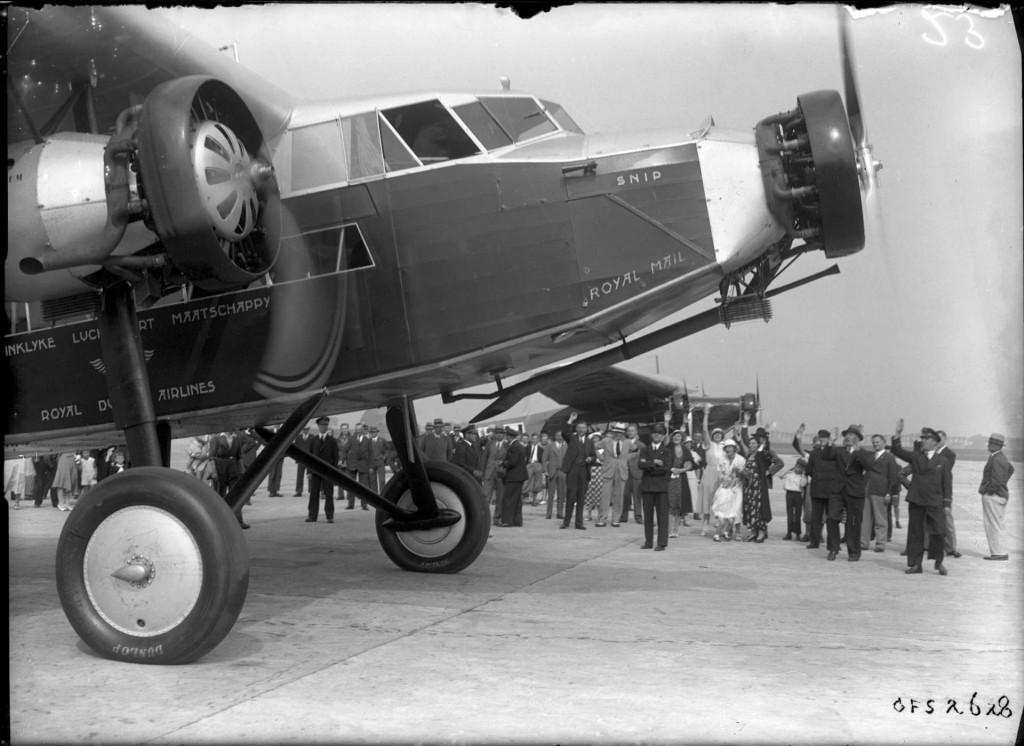 De eerste transatlantische vlucht vond plaats op 15 december 1934 (blog.klm.com)