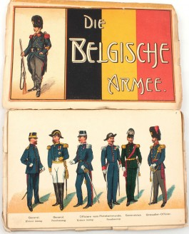 Duitse kaart over Belgische leger