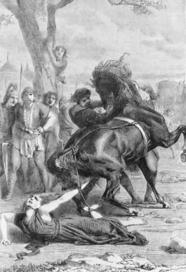 Executie van Brunhilde van Austrasië