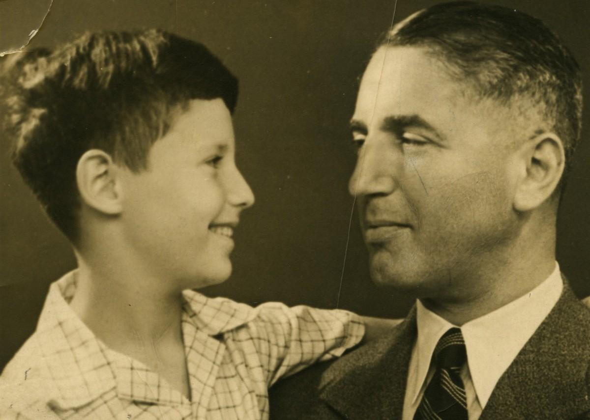 Fritz Pfeffer met zoon Werner, 1935, fotocollectie Anne Frank Stichting