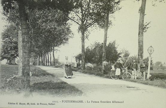 De Frans-Duitse grens bij Foussemagne nabij Belfort 1871-1918 De Frans-Duitse grens bij Foussemagne nabij Belfort 1871-1918
