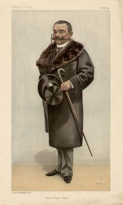 Gekarikatureerde tekening van Delcassé in Vanity Fair van februari 1899 - cc
