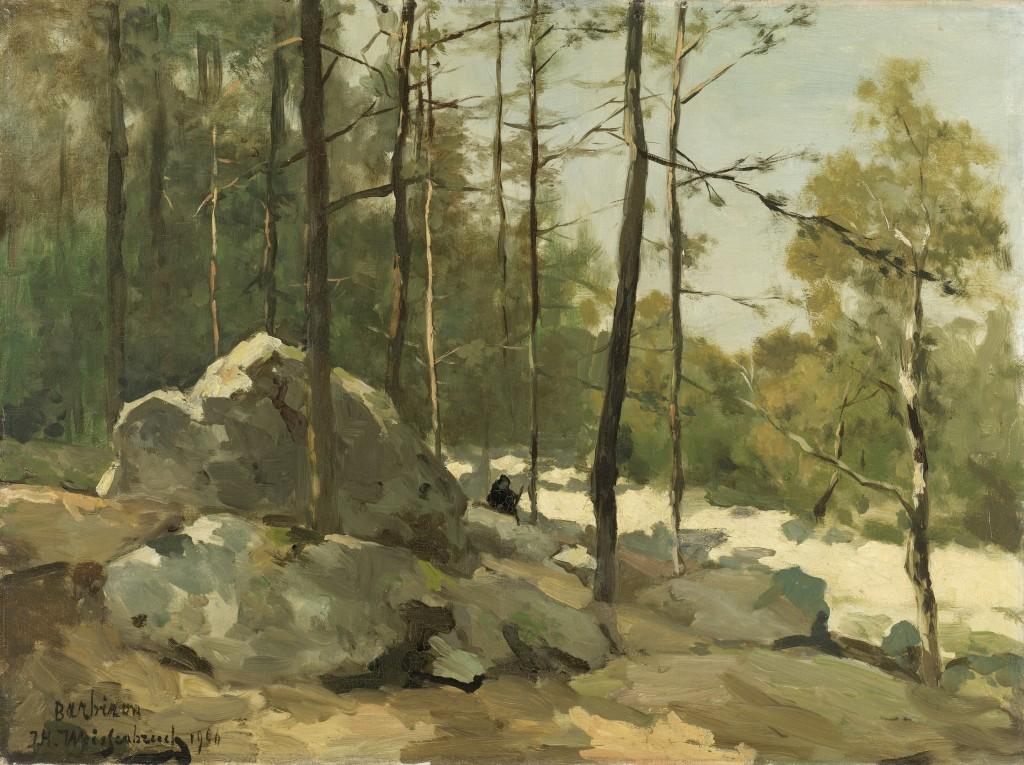 Bosgezicht nabij Barbizon (1900) - Jan Hendrik Weissenbruch (1824-1903), Collectie Rijksmuseum.