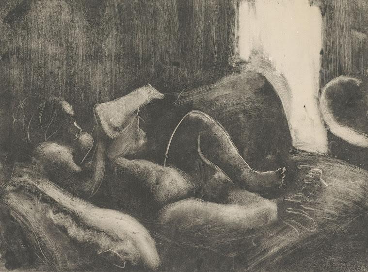 La lecture après le bain - Edgar Degas