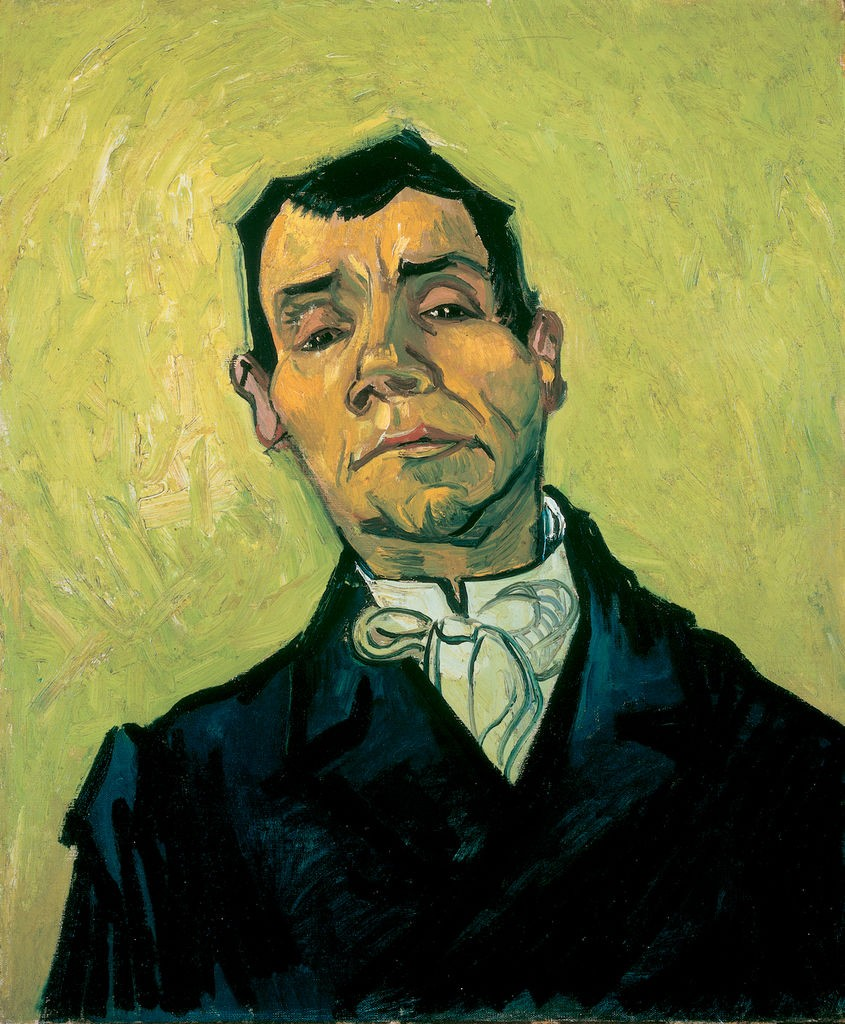 Vincent van Gogh, Portret van een man (Portrait of a man), 1e helft december 1888 - detail